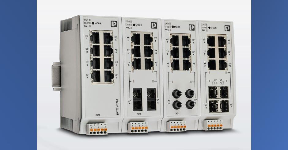 FL Switch 2200_2300 von Phoenix Contact für Ethernet-in-the-Field. Bild: Phoenix Contact