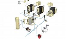 Ein Druckluftsystem besteht nicht nur aus dem Kompressor, sondern vielen verschiedenen Komponenten. Wie diese miteinander funktionieren, entscheidet über die Betriebskosten. Bilder: Ingersoll Rand