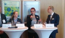 Petra Wolf von der Geschäftsleitung der Nürnbergmesse bei der Halbzeit-Pressekonferenz am 20.04.2016 - Bild: Redaktion