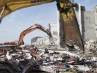 The removal of large quantities of demolition material is a challenge during  operation. Picture: Arcadis
