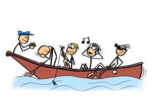 Alle in einem Boot ohne Fhrung