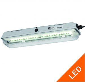 LED-Langfeldleuchten für Zone 1 mit Gasgruppe IIC Exlux 6002
