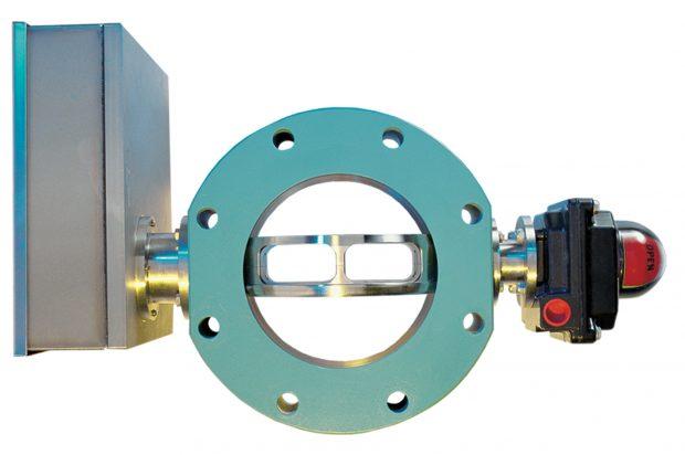 Der geöffnete Zustand zeigt, wie die hohle Ausführung der Ventilscheibe den Durchflussquerschnitt vergrößert.