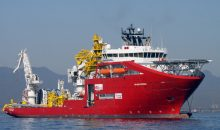 Die Skandi Açu ist nur eines von vier Pipeline-Schiffen, die Petrobas mieten will. Auf dem Bild ist die Skani Niteroi zu sehen. (Bild: Technip)