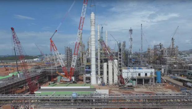 BASF Petronas Chemicals stellt Citral-Anlage mechanisch fertig