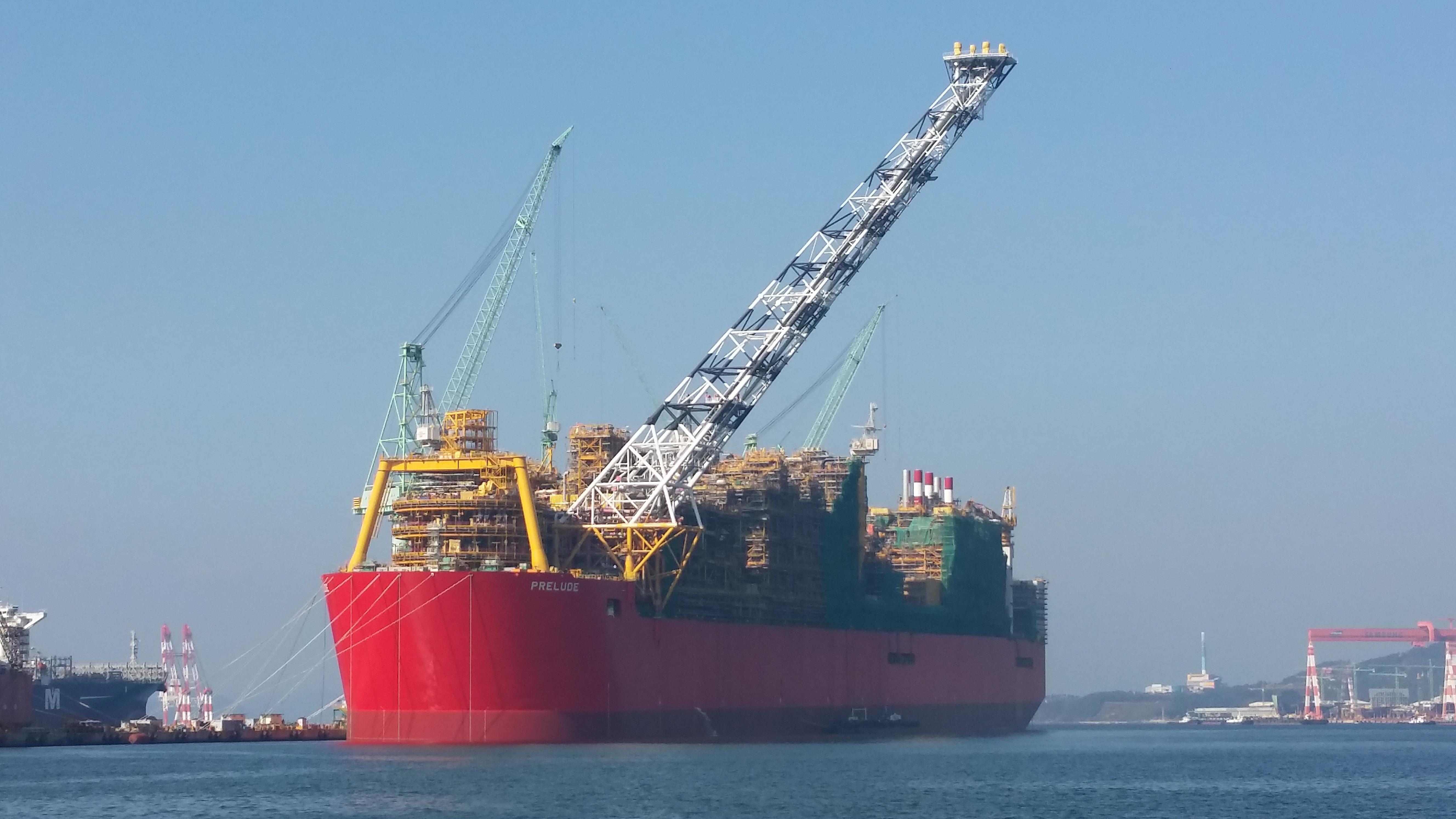 Prelude Flng Anlage Plant Shell Ein Weiteres Mega Gasschiff