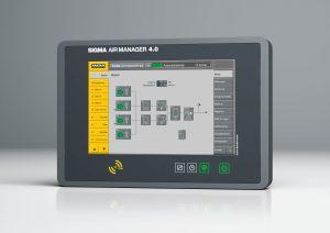 Die Steuerung überwacht und steuert hocheffizient alle Komponenten einer Druckluftstation. Bild: Kaeser