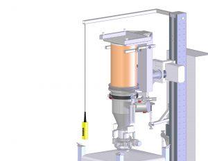 Mit der weiterentwickelten Version des Systems lassen sich auch Fässer unter Containment smart Andocken. Bild: Rubitec