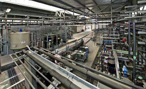 Blick in die Werkshalle der Life+Rewatch-Projektanlage in Tarragona (Bild: Dow)