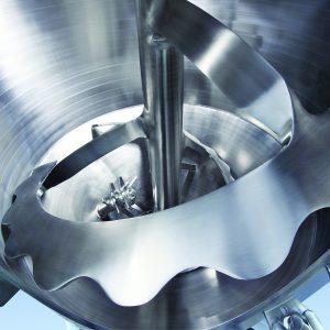 Das patentierte Sinconvex-Mischwerkzeug bewirkt eine sehr hohe Mischgüte und eine restlose Entleerung. Bild: Amixon