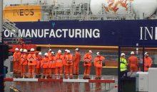 Im schottischen Grangemouth hat erstmals ein Tankschiff mit verflüssigtem Schiefergas aus den USA angelegt (Bild: Ineos)