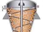 Schematische Darstellung eines vertikalen Wendelmischers. Bild: AVA-Huep