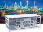 Modulare Produktionscontainer erhöhen  die Flexibilität in der Chemie, da Betreiber sie kurzfristig an- und abbauen können. Bilder: Phoenix Contact