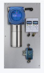 Der Gasdetektor ist mit einer Selbsttest-Funktion ausgestattet, die eine Überprüfung des Systems aus der Ferne und mit dem zu messenden Gas erlaubt. Bild: Compur Monitors