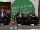 "High profile experts at the conference ""Perspectives"". From left to right: Dr. Willem Huisman, Dow, Dr. Martin Wienkhöver, CABB, Dr. Klaus Jaeger, Covestro. Picture: CHEMIE TECHNIK"