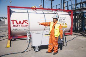 1: Die Reinigung von ISO-Containern muss schnell und gründlich erfolgen. Bild: Kärcher