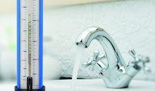 Mit dem Volumenstrom-/Temperaturmessgerät können Wassermengen- und Wassertemperaturmessungen einfach und schnell durchgeführt werden.Bild: Afriso