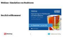 Webinar: Simulation von Reaktoren