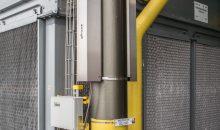 Clamp-on-Ultraschall-Durchflussmesser werden immer genauer und aufgrund ihrer eingriffsfreien Montage nicht nur für temporäre Messungen geschätzt. Hier im Einsatz bei Covestro, wo Ammoniakgas gemessen wird. Bild: Flexim