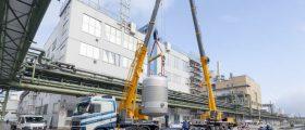 Erweiterungsmaßnahme an der Wacker Dispersionsfabrik in Burghausen. Bild: Wacker
