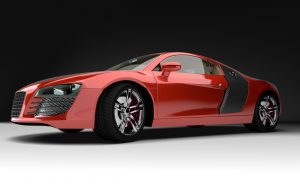 Auto rot Studioaufnahme