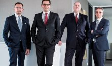 (von links) Yves Schoen, Silvio Konrad, Ralf Jung und Ulf Theike leiten jetzt den Geschäftsbereich Industrie Service der Tüv Nord Group. (Bild: Tüv Nord Group)