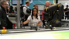 Auch das ist Industrie 4.0: Am Stand von Bosch auf der Hannover Messe wurde die Zusammenarbeit zwischen Mensch und Roboter demonstriert. Bild: Redaktion