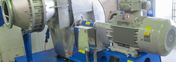 Ohne Test läuft nichts: ein zur Atex-Zertifizierung vorbereiteter Ventilator.