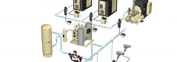 Geschätzte 30 bis 50 % der in Druckluftsystemen eingesetzten Energie geht während des Betriebs verloren. Bilder: Ingersoll Rand
