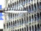 Reinigung eines Gasöl-Wärmeübertragers aus Edelstahl mit Hilfe eines Bürsteneinsatzes ...