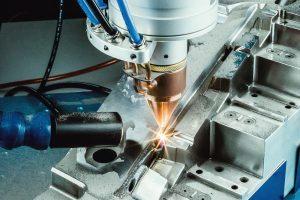 Die Pulverdüse entstand in Kooperation mit dem Fraunhofer Institut für Lasertechnik. Bild: OR Laser