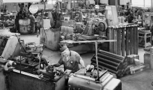 Pumpenfabrik Emile Egger in Cressier, Neuenburg (CH) Anfang der 1950er Jahre. (Bild: Emil Egger)