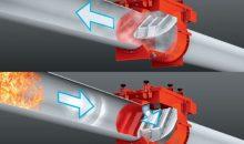 Die Rückschlagklappe Proflap verhindert das Durchschlagen der Flammen in die Rohrleitungen und  damit mögliche Folgeexplosionen. (Bild: Keller Lufttechnik)