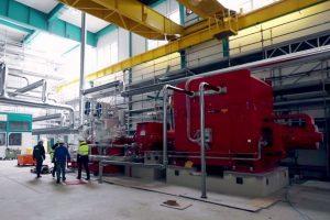 Die neue Dampfturbine im Chemiepark Gendorf