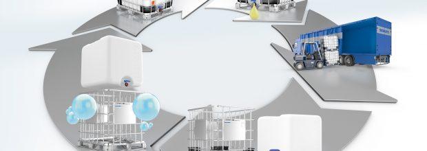Kunststoffteile werden ersetzt und recycelt, Gitterkorb und Bodengruppe werden   aufbereitet.