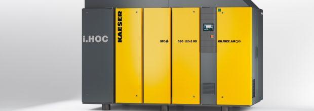 6: Der Rotationstrockner i.HOC liefert auch unter ungünstigen Bedingungen Druckluft mit Drucktaupunkten bis -30 °C. Bild: Kaeser