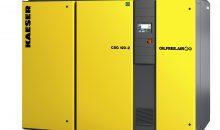 1: Die Schraubenrotoren der Schraubenkompressoren CSG-2 sind mit einer abrieb- und bis 300 °C temperaturbeständigen Beschichtung versehen.. Bild: Kaeser