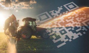 Traktor und QR-Code