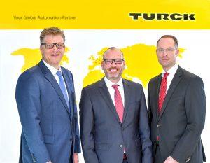 Christian Pauli, Guido Frohnhaus und Christian Wolf (v.l.) bilden ab März die Geschäftsführung der Turck Holding. (Bild: Turck)