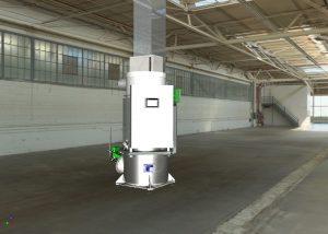 Auch für geringen Bedarf eignet sich die thermische Nachverbrennung mit einer entsprechend angepassten Anlage. Bild: Birk