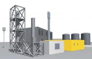 Caloric plant eine Anlage zur Produktion von Biomethan aus Kohlendioxid. (Bild: Regio Energie Solothurn / Baderpartner Architekten)