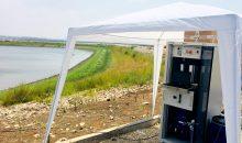 Der modulare Generator von HP-now stellt in einem elektrochemischen Prozess Wasserstoffperoxid her. (Bild: Evonik)