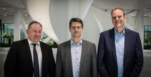 Geschäftsleitung AUMA Riester GmbH & Co. KG: (v.l.n.r.) Henrik Newerla (COO), Ferdinand Dirnhofer (CSO), Dr. Jörg Hoffmann (CEO)