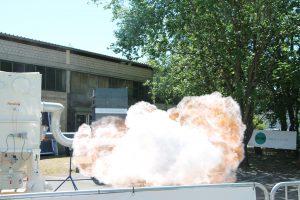 Live-Demonstrationen zum Explosionsschutz bei Rembe in Brilon.