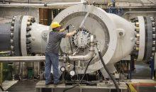 Der Pipeline-Verdichterstrang wird an die Station Winchell Lake im kanadischen Alberta geliefert. (Bild: Siemens)