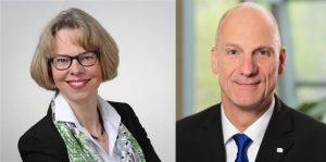 Dorothea Wenzel wird Leiterin Controlling, Hans-Joachim Neumann Leiter Suplly-Chain-Management im Bereich Performance Materials von Merck. (Bilder: Merck)