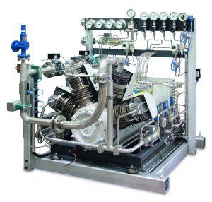 Sauer Der HAUG Sirius HP 450 vereint das langjährige Sauer Know-how im Hochdruckbereich und die umfassende Kompetenz von HAUG Sauer in der Herstellung ölfreier Verdichter. © Sauer Compressors