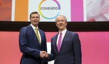 Dr. Markus Steilemann (links) and Patrick Thomas (rechts). (Bild: Covestro) ----------------------------------------- Dr. Markus Steilemann (left) and Patrick Thomas (right)