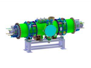 3D Ansicht des supraleitenden Magnet-Moduls. (Bild: GSI)