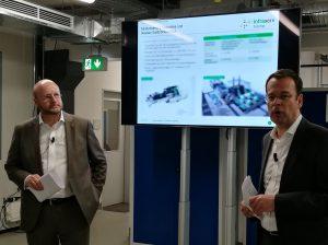 Infraserv Geschäftsführer Jürgen Vormann (links) und Dr. Joachim Kreysing (rechts)
